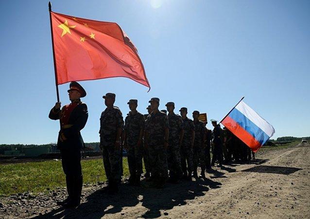 中俄兩國陸軍在聯合演訓等方面合作成果顯著