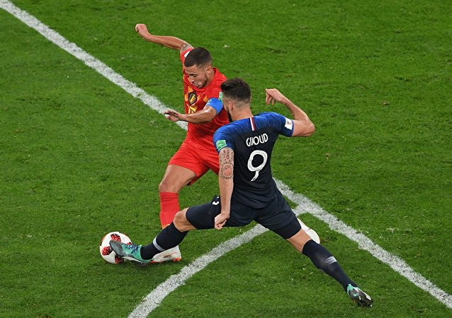 法國戰勝比利時挺進世界杯決賽