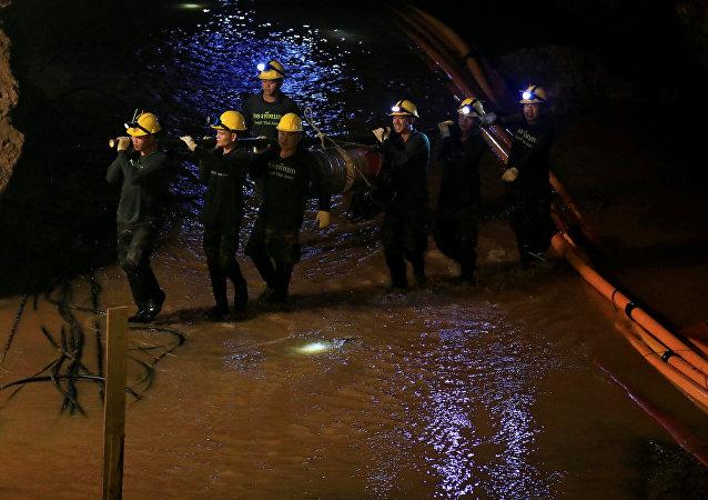 泰國對遊客開放2018營救兒童的洞穴
