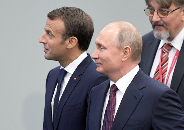 克宮:普京與馬克龍通電話討論敘局勢解決問題