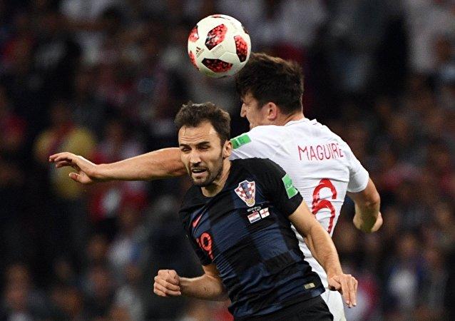 克羅地亞國家隊在世界杯半決賽的加時期間戰勝英格蘭足球隊