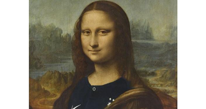 盧浮宮為慶祝法國隊奪冠給蒙娜麗莎「換裝」