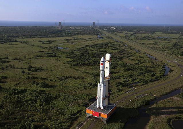 中國航天科技集團:長七遙三火箭、天舟二號飛船文昌會師