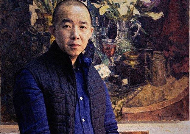 中國青年畫家牟克