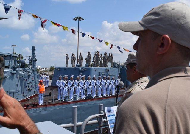 敘利亞塔爾圖斯港紀念俄羅斯海軍節舉行艦船閱兵式