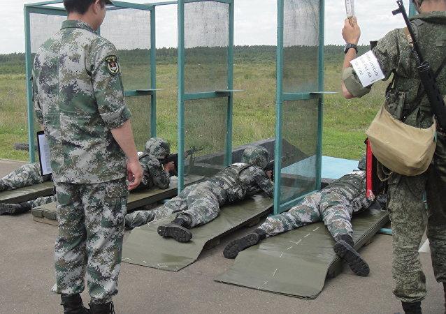 參加「國際軍事比賽」的中國軍人(資料圖片)