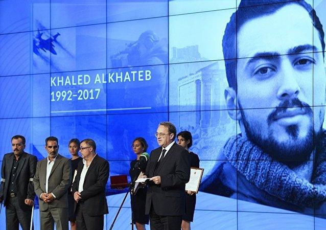 RT電視台開始接收隨軍記者參加2020哈列德·阿里·哈德別國際獎的申請