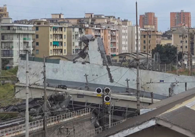 意消防員:熱那亞事故大橋或進一步坍塌危及住房