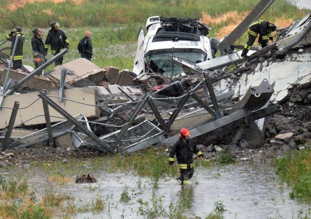 救援人員:意大利熱那亞大橋垮塌造成的遇難人數已達到41人