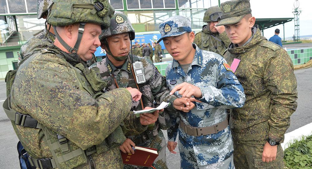 中俄兩軍在演練中形成默契