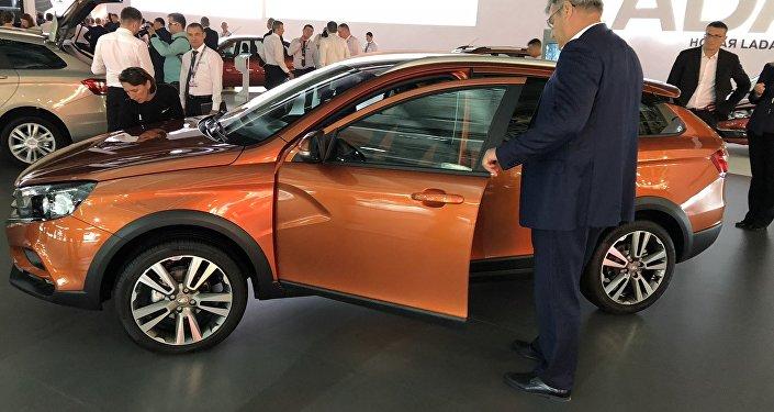 俄羅斯拉達(Lada)汽車展品