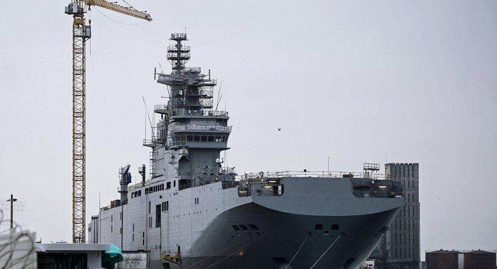 俄刻赤在建直升機航母的排水量為四萬噸