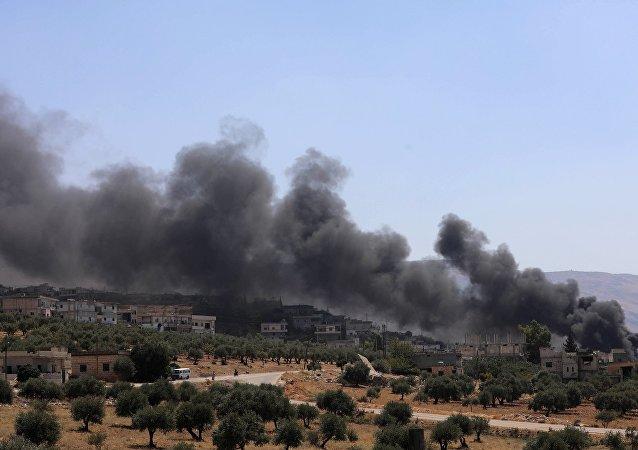 俄國防部:俄軍四架飛機4日對敘伊德利卜省恐怖分子設施實施打擊