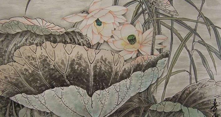 王秀玲的國畫作品