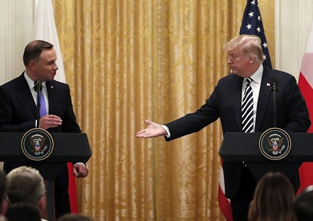 波蘭總統安傑伊·杜達和美國總統唐納德·特朗普