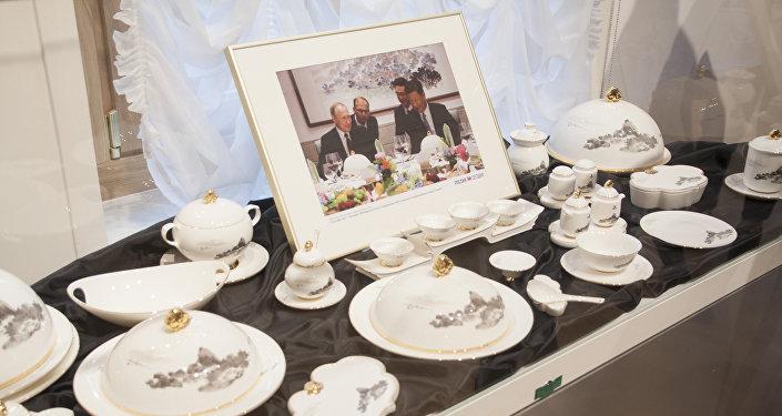 金磚廈門峰會晚宴餐具的複製品