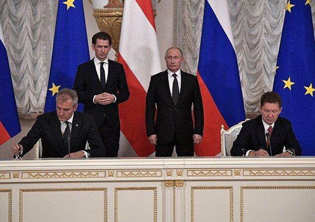 俄氣與奧地利石油天然氣集團簽署了協議,奧地利石油天然氣集團將加入俄烏連戈氣田的開發工作