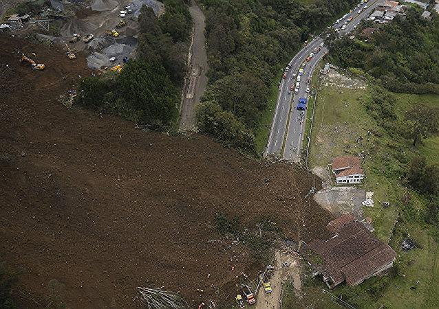 山體滑坡在哥倫比亞