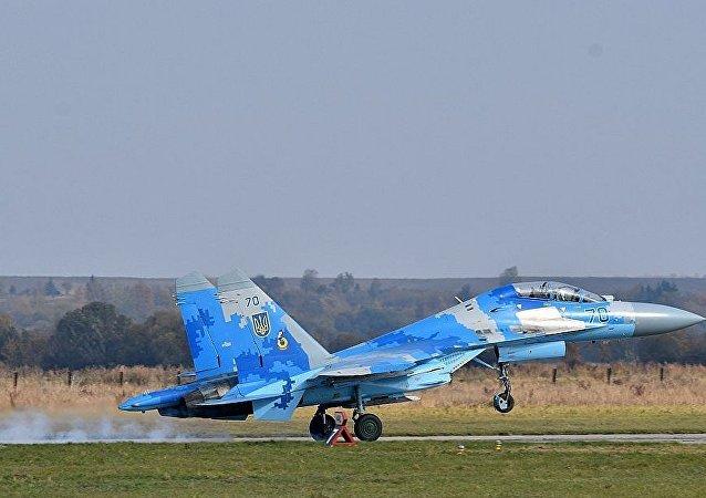 烏克蘭的蘇-27戰鬥機在「晴空-2018」聯合空中演習