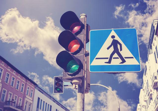 俄羅斯出現中國交通信號燈