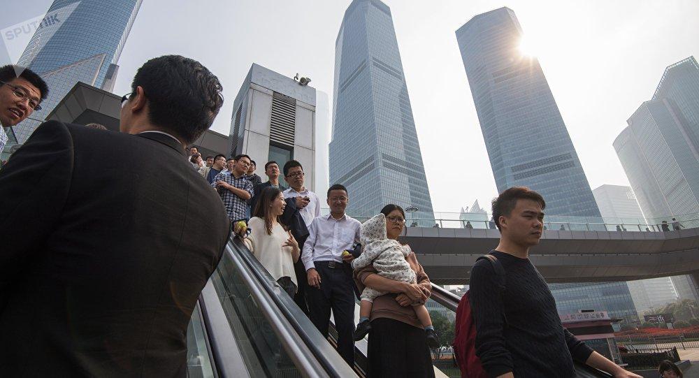 шанхай китай экономика население люди