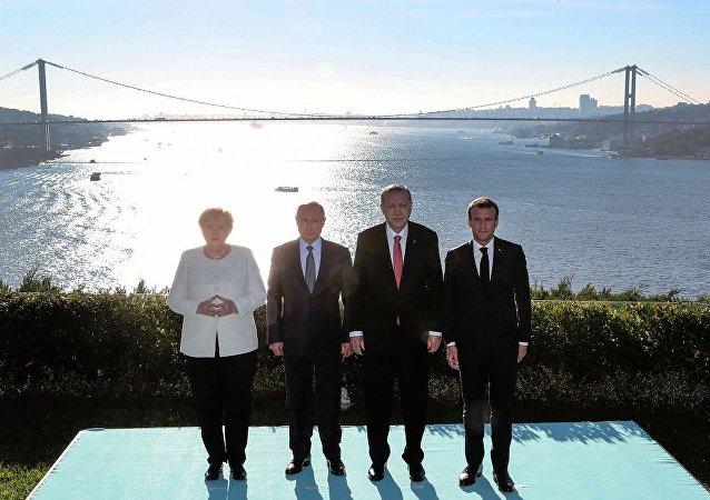 敘利亞問題土俄德法四國元首峰會結束