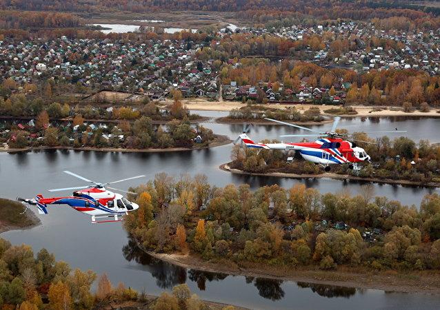 俄米-171A2和安薩特直升機抵達中國參加航展