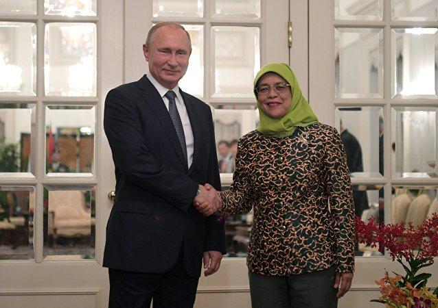 普京稱他與新加坡總統的會談富有成果
