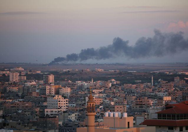 加沙地帶邊境23日的衝突導致至少12名巴勒斯坦人受傷