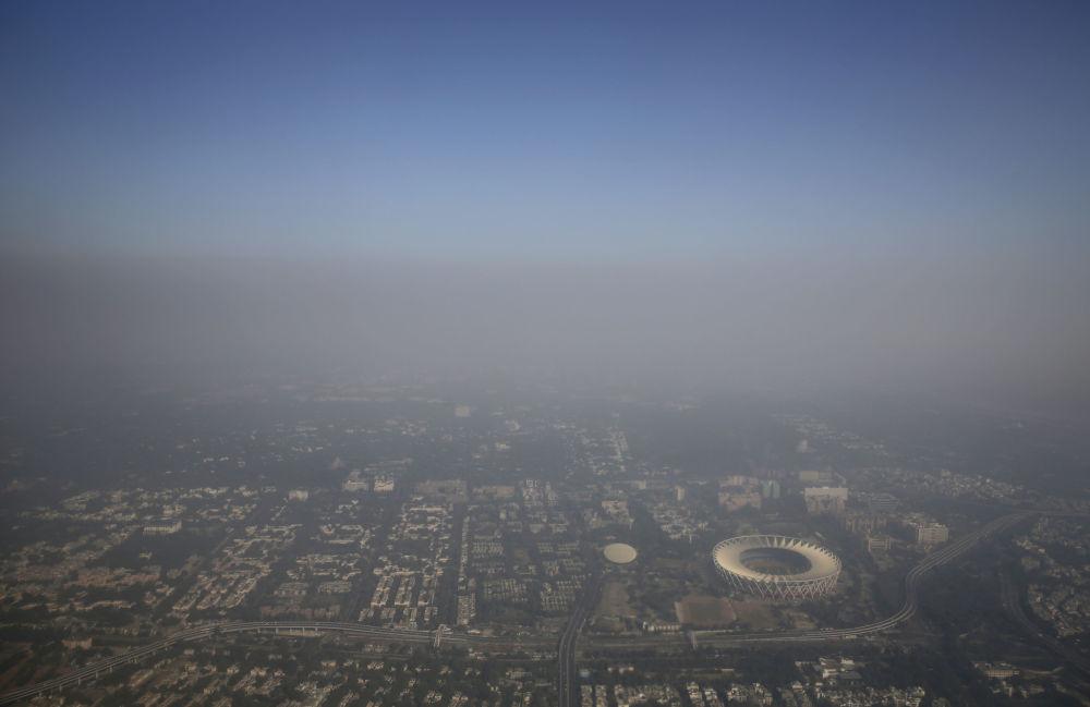 印度新德里的濃密霧霾