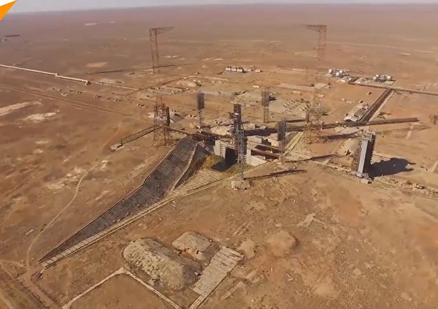 鳥瞰拜科努爾航天發射場全景