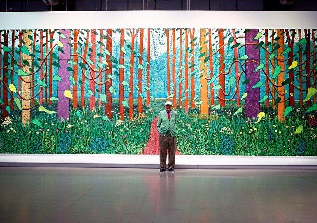 英國藝術家霍克尼作品創在世藝術家作品拍賣紀錄