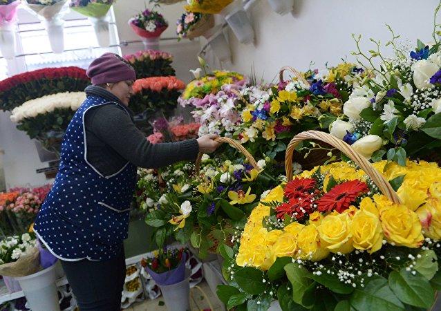 Цветочный магазин. Архивное фото