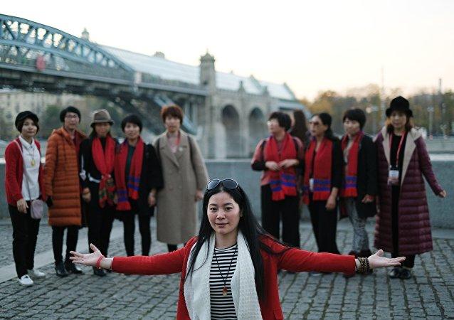 中國旅遊者在俄羅斯