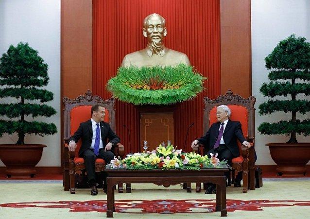 俄總理會見越南國家主席
