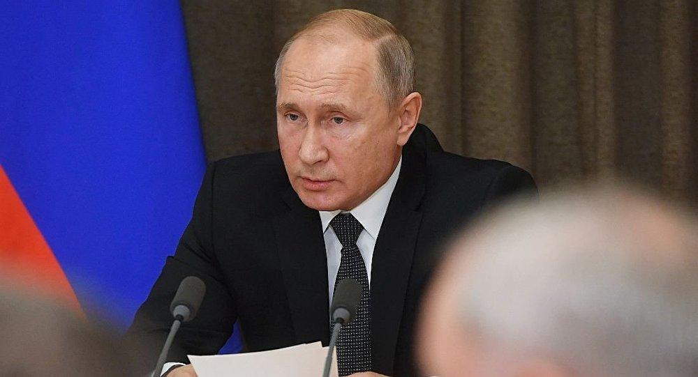 俄總統普京在軍事問題會議上