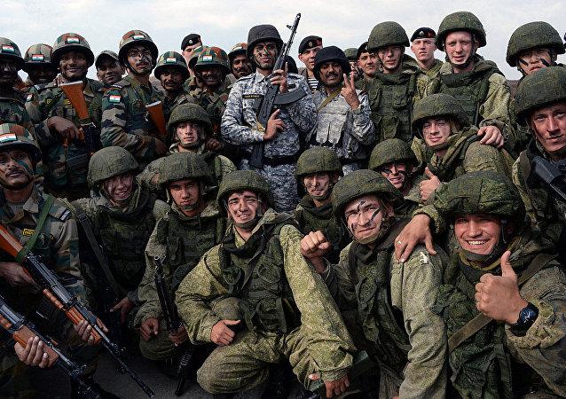 俄印在「因陀羅2018」聯合演習期間舉行反恐行動