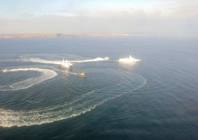 Три корабля ВМС Украины пересекли российскую границу
