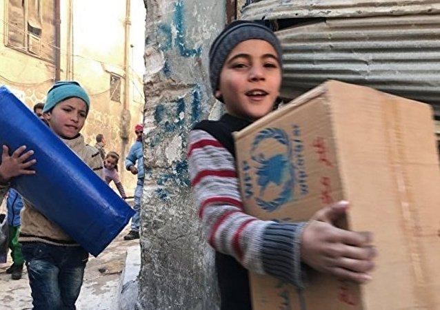 阿勒頗每所孤兒院都會收到來自俄羅斯的新年禮物