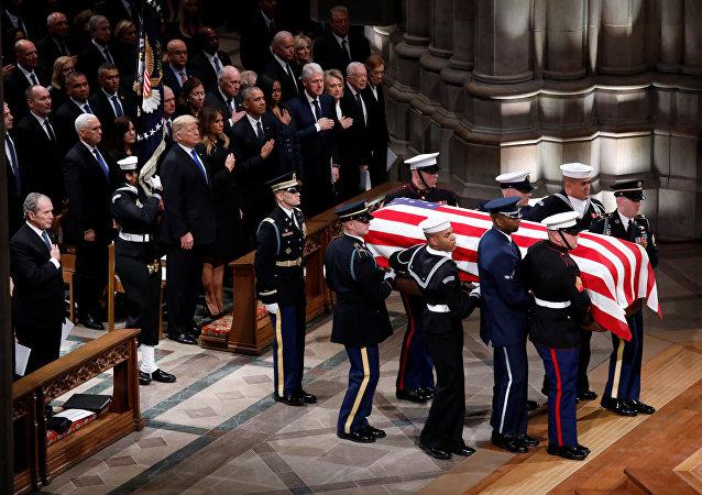 特朗普沒有在老布什的葬禮上致悼詞