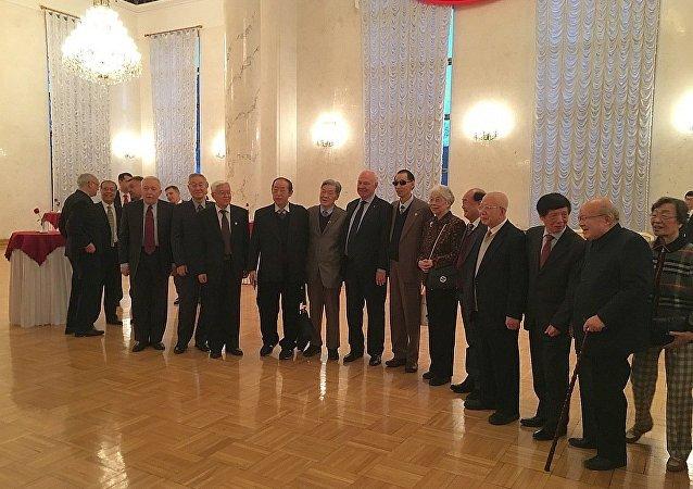 俄駐華使館為紀念著名俄外交官、漢學家沃羅比約夫舉行紀念晚會