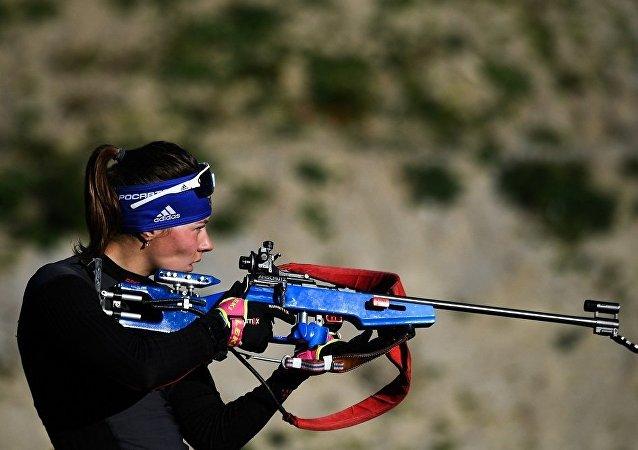 俄羅斯冬季兩項運動員阿納斯塔西亞•莫洛佐娃