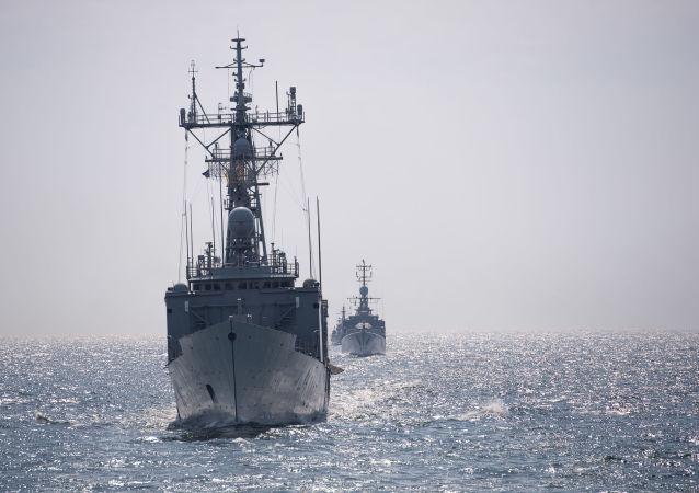 北約船艦駛入黑海(資料圖片)
