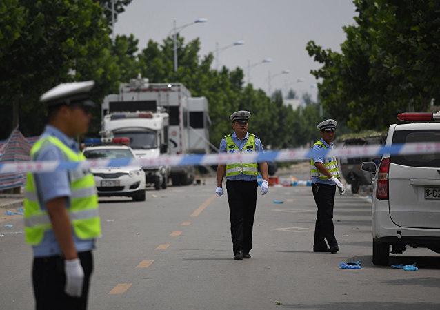 中國湖南省一卡車衝向行人致10人死亡