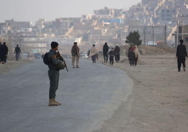 Последствия взрыва на окраине Кабула