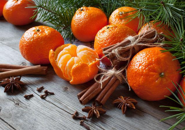 國際空間站宇航員帶橘子慶新年