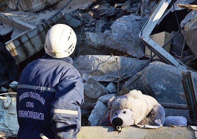 俄馬格尼托戈爾斯克燃氣爆炸地點