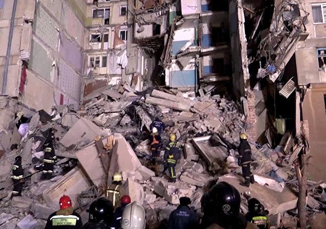 俄當地政府:馬格尼托哥爾斯克居民樓燃氣爆炸的7名遇難者中沒有兒童