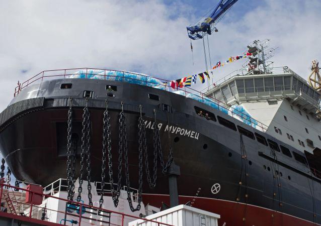 「伊利亞·穆羅梅茨」號最新型破冰船