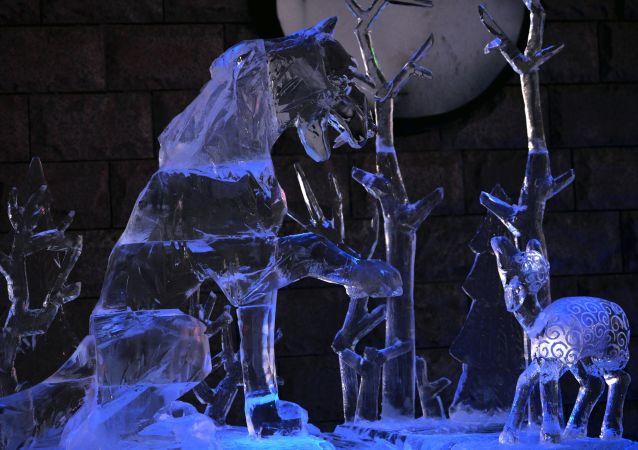 代表隊作品獲中國哈爾濱國際冰雕比賽二等獎